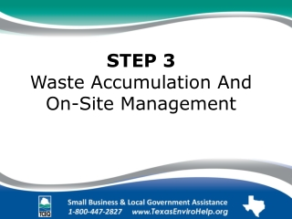 Satellite Accumulation Area Management