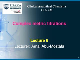 Complex metric titrations