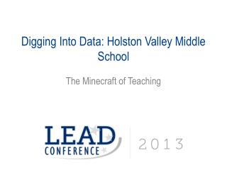 Digging Into Data: Holston Valley Middle School