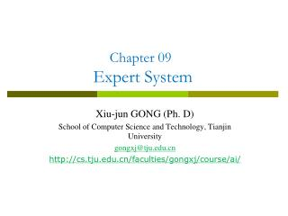 Chapter 09  Expert System