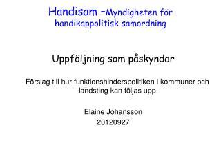 Handisam – Myndigheten för handikappolitisk samordning