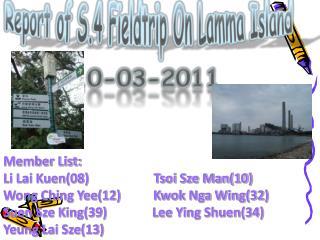 Report of S.4 Fieldtrip On  Lamma  Island