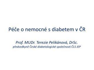 Péče o nemocné s diabetem v ČR