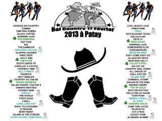 Bal Country 17 Février 2013 à Patay