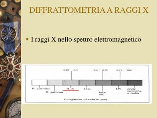 DIFFRATTOMETRIA A RAGGI X