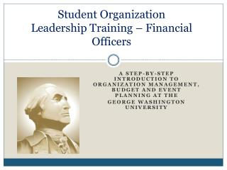 Student Organization Leadership Training – Financial Officers