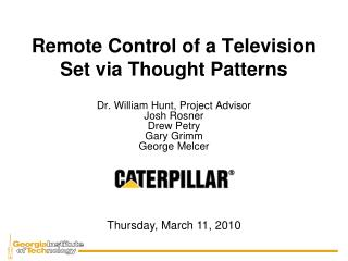 Remote Control of a Television Set via Thought Patterns