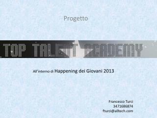 Top Talent Academy 15 settembre 2012