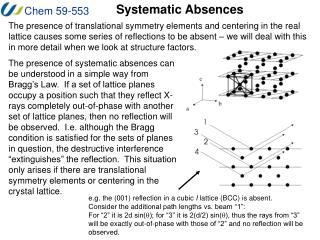 Systematic Absences