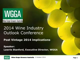 2014 Wine Industry  Outlook Conference