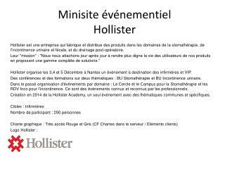 Minisite  événementiel  Hollister