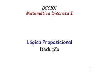 BCC101  Matemática Discreta I