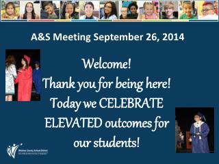 A&S Meeting September 26, 2014