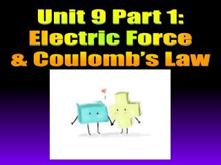 Unit 9 Part 1: Electric Force & Coulomb's Law