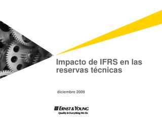 Impacto de IFRS en las  reservas técnicas  diciembre 2009