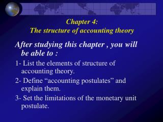 After studying this chapter , you will be able to :