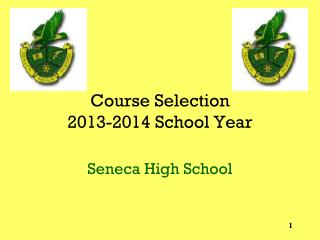 Course Selection  2013-2014 School Year