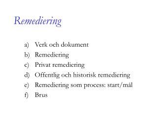 Remediering