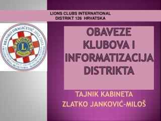 Obaveze klubova i informatizacija distrikta