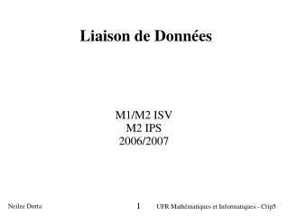 Liaison de Donn�es