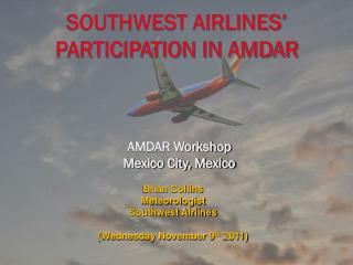 Southwest Airlines' Participation in AMDAR