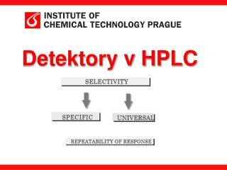Detektory v HPLC
