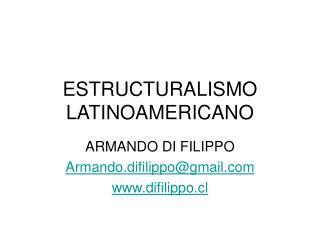 ESTRUCTURALISMO LATINOAMERICANO