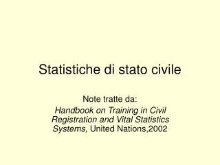 Statistiche di stato civile