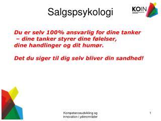 Salgspsykologi