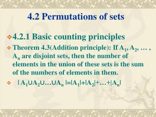 4.2 Permutations of sets