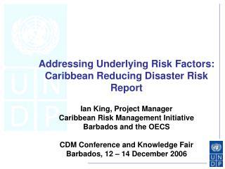 Addressing Underlying Risk Factors: Caribbean Reducing Disaster Risk Report