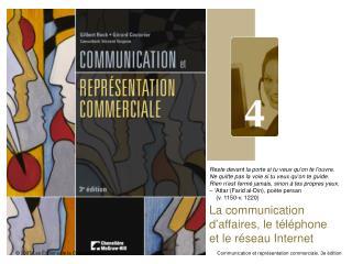 La communication d'affaires, le téléphone et le réseau Internet
