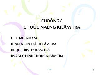 CH��NG 8 CH��C NA�NG KIE�M TRA