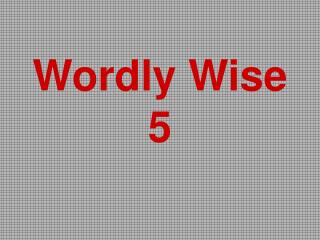 Wordly Wise 5