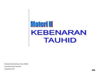 KEBENARAN  TAUHID