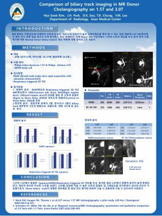 Comparison of biliary track imaging in MR Donor Cholangiography on 1.5T and 3.0T
