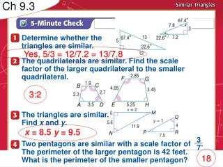 Determine whether the  triangles are similar.