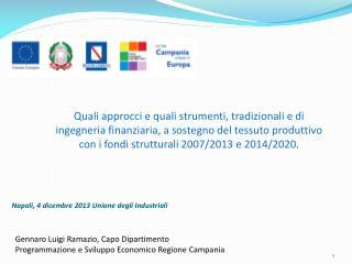Napoli, 4 dicembre 2013 Unione degli Industriali