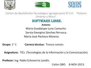 Centro de Bachillerato Tecnol�gico agropecuario N�115    �Dolores Jim�nez y Muro�