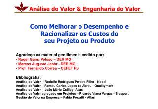 Análise do Valor & Engenharia do Valor
