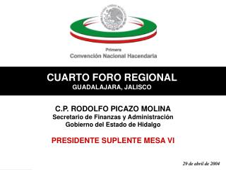 CUARTO FORO REGIONAL GUADALAJARA, JALISCO