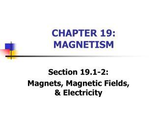 CHAPTER 19: MAGNETISM