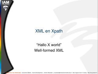 XML en Xpath
