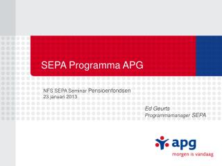 SEPA Programma APG