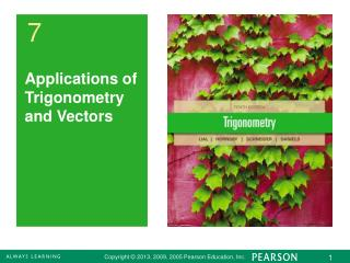 Applications of Trigonometry and Vectors