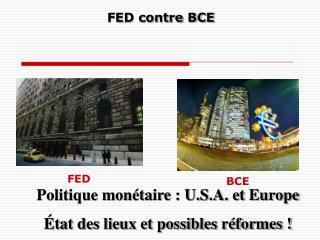 FED contre BCE