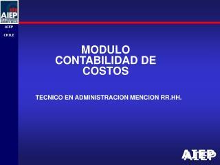 MODULO CONTABILIDAD DE COSTOS