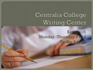 Centralia College Writing Center