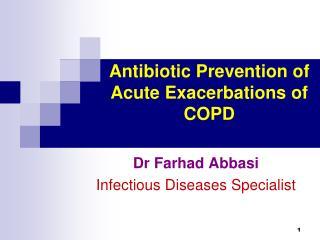 Antibiotic Prevention of Acute Exacerbations of COPD