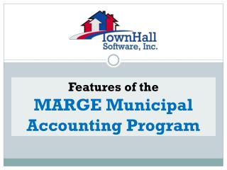 Features of the MARGE Municipal Accounting Program